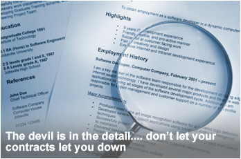 The devil is in the detail, don\'t let your contracts let you down